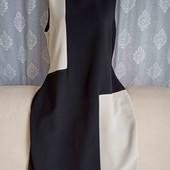 Классическое платье с контрастными вставками, р. XL