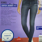TT90...стильные джинсы syper Skinny Fit , от Esmara.