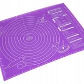 Коврик силиконовый для раскатки теста, 40х50 см