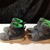 Кожаные ботинки Ecco, с мебр. Gore-Tex, ориг. Индон, разм. 25 и 26 (16 и 16,5 см ст.) В лоте 1 пара.