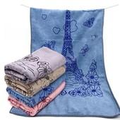 Париж!Нежные,супермягкие,быстровпитывающие полотенца отличного качества!