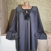 Собираем лоты!!! Блуза-реглан с вышивкой, размер 42/44,100%вискоза
