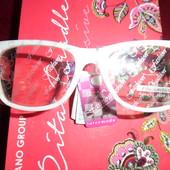 Поляризированные имиджевые очки, белые с черной дужкой