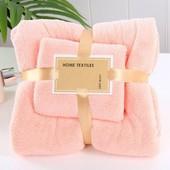 Мягкий и нежный .Замечательный набор полотенец для ванной 140 х 70 и 75 х 35 в подарочной упаковке