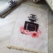 Нереально крутой интерьерный Chanel Шанель коврик ковёр размер 65×85 Турция лот фото 1-2 лот 1шт