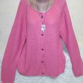 Розовая кофта на пуговицах на xxxl/xxxxl .