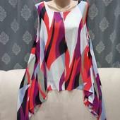 Шикарная блузка с асимметричным низом, р. 3XL
