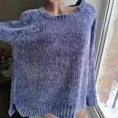 Фиолетовый\сиреневый\лиловый велюровый свитер оверсайз george