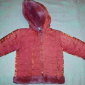 Куртка зимняя на девочку 3-4 года, с отливом, очень красивая!