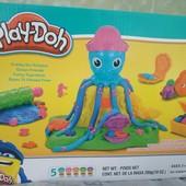 Пластилин осьминог Play-Doh (плэй-до) + подарок воздушный пластилин 2 упаковки