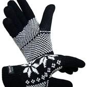 ☘ Теплі трикотажні рукавички з норвезькі від fiebig, розмір: M (приблизно 6,5-8)