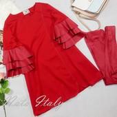 Красное короткое платье с воланами с экокожи Paparazzi