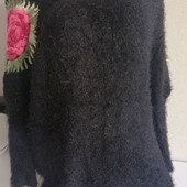 Удлинённый свитер-туника. Травка