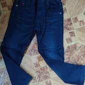 Джинсовые брюки для мальчиков на флисе F&D 4 лет