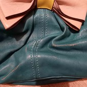 Бирюзовая кожаная сумка