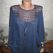 Красивый трикотажный свитерок 14р.,грудь 49, 100% вискоза