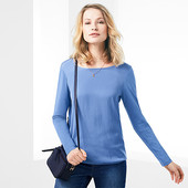 Стильная блуза на резинке из комбинированных тканей от Tchibo (германия) размер 36 евро=42-44