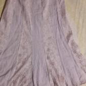 Красивая льняная юбка с кружевными вставками Per Una