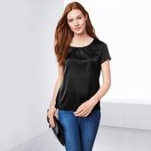 Элегантная блузка из комбинированных тканей от Tchibo (германия) размер 36 евро=42-44