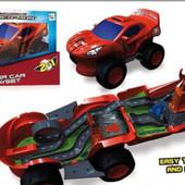 Эксклюзивная дорогая машинка-трек IMC toys spider-man 2 в 1!!! Оригинал!!!