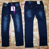 Модные джинсы Grace на флисе на девочку 134,164 р