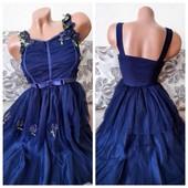 распродажа! Очаровательное платье декорированное фатином с пришитыми цветами осталось 2 цвета