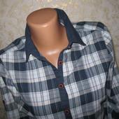 Хорошенькая коттоновая рубашка М р, грудь 44, 100% коттон