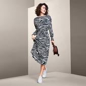 Платье миди в дизайне зебры от Tchibo (Германия), размер 36 евро