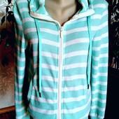 Классная хлопковая куртка с капюшоном, двунитка Atmosphere, Ирландия, размер-L