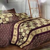 Бязевый постельный комплект Евроразмера 200*220 см. 80% хлопок, 20% полиэстер. Много расцветок