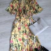 Шикарное миди платье в цветочный принт ! zara