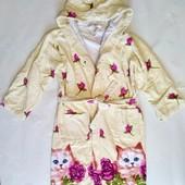 Детский махровый халат Турция, на 8-10 лет, в хорошем состоянии