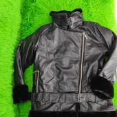 Стильная кожаная куртка подросток