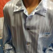 Пижама голубого цвета из шёлка на мужчину 50(укр.)