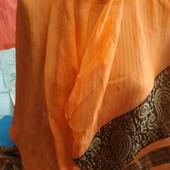 Шарфик из шифона оранжевого цвета