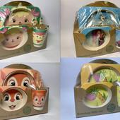 Набор детской посуды бамбуковый 5 приборов Bamboo Ware Kids Set