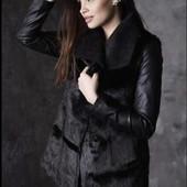 Esmara Германия Роскошная дизайнерская куртка из эко меха и эко-кожи 34евро
