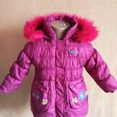 Брендова тепла куртка на манюню в ідеальному стані 1/2 роки Зріст 86 дивіться заміри