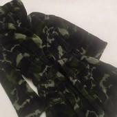 Мягусенький теплый флисовый халат милитари на мальчика 7-8 лет, рост 128