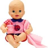 Пупс з пляшечкою і покривальцем Little Mommy. Пупсик бутылочка оригинал Америка
