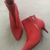 Яркие демисезонные текстильные ботинки ,37размер