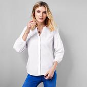Белая блузка- рубашка с воздушным рукавом из био-хлопка Tchibo(германия) размер 42 евро=48