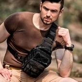 Мужской тактический рюкзак мужская сумка через плечо кросс боди