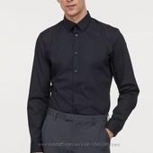 стильная мужская рубашка Easy-iron slim fit от H&M