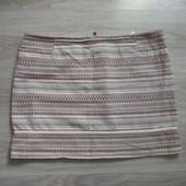 Фирменная летняя коттоновая юбка р.16-18