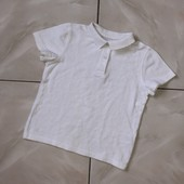 Стоп !❤ F&F, плотная Коттоновая Фирменная белая футболка,4-5 лет❤ Много лотов!
