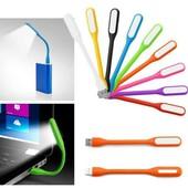 Гибкая USB led лампа для ноутбука, портативный юсб фонарик
