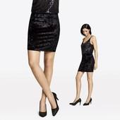 Германия!!! Велюровая нарядная юбка! Черная в лоте! 44 евро!