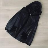 Куртка с капюшоном из натуральной кожи~замши / Турция