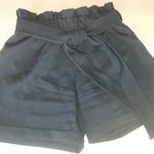 Школьные шорты, пояс резинка рост 146 см